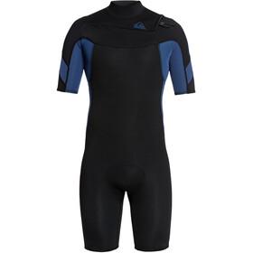 Quiksilver 2/2 Syncro Combinaison Manches courtes Zip FLT Homme, black black/iodine blue iodine